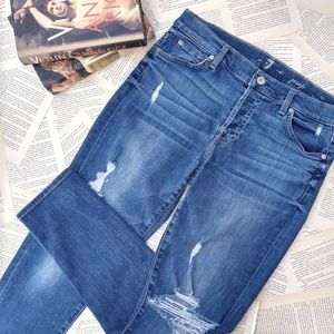 7 FOR ALL MANKIND Josephina Skinny Boyfriend Jeans